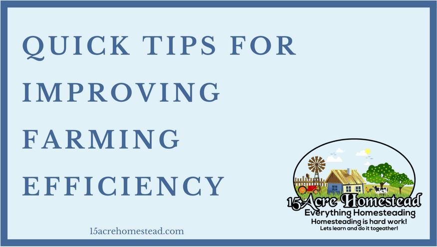 farming efficiency