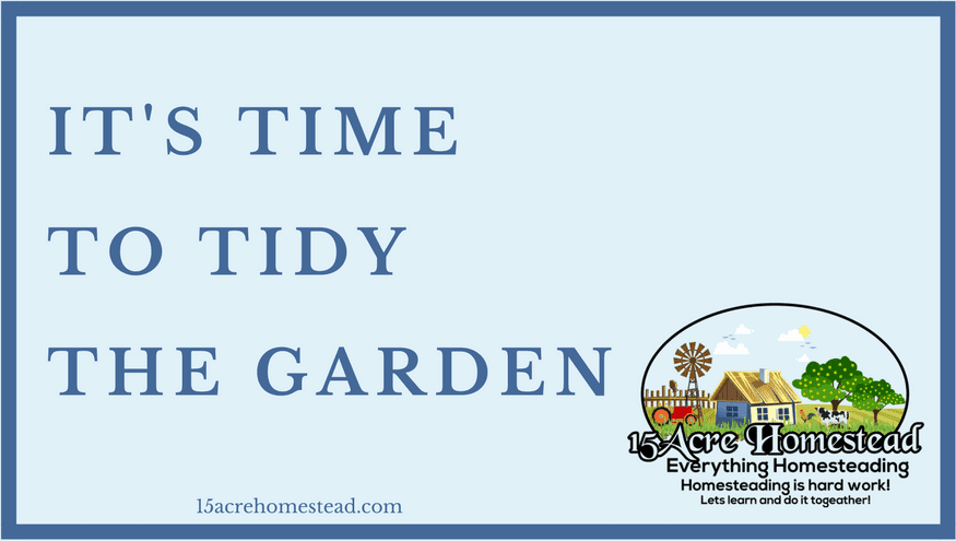 tidy the garden