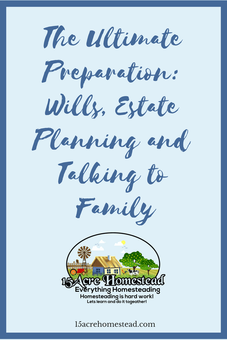 Estate planning is so important for yourself and your family. It is better to be prepared.