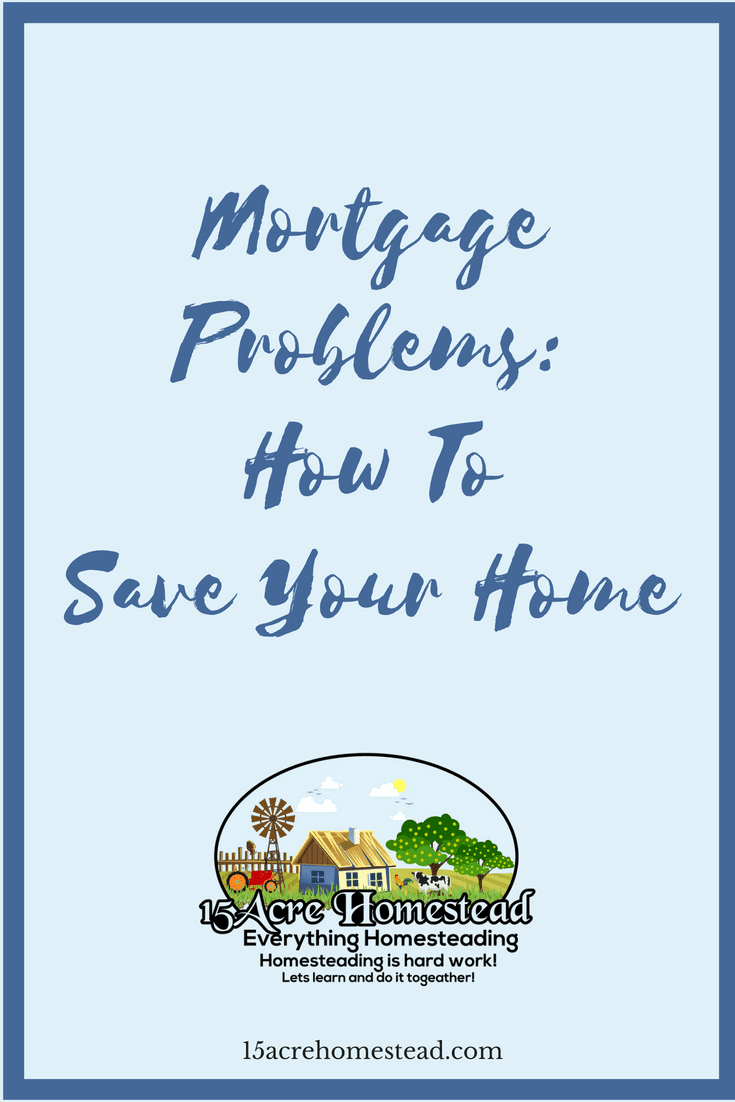 Just because you have mortgage problems doesn't mean you have to lose your home. There are simple things you can do before it is to late.