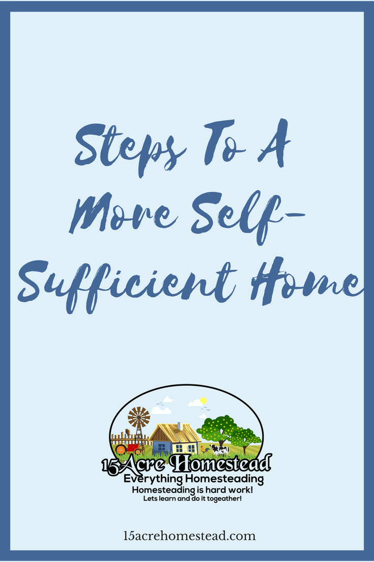There are so many ways to achieve a more self-sufficient home.