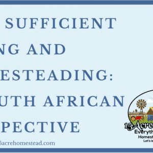 Self Sufficient Living and Homesteading : A South African Perspective