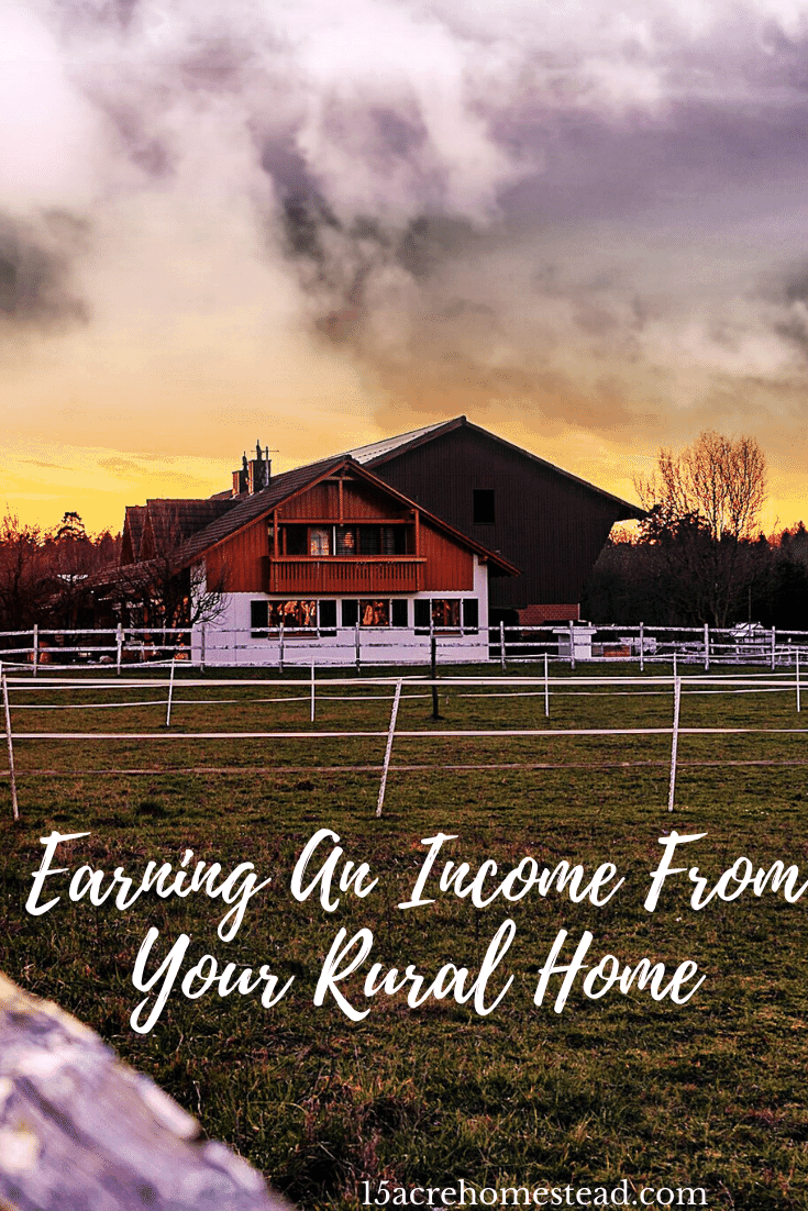 Having a rural home or property provides an excellent opportunity for a homesteader to earn an income from their property and this post offers 3 ways to do so.