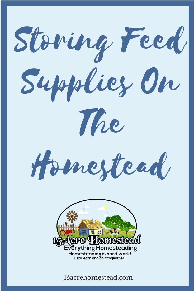 It is important to make sure you are storing feed supplies correctly to ensure the health of your animals on the homestead.