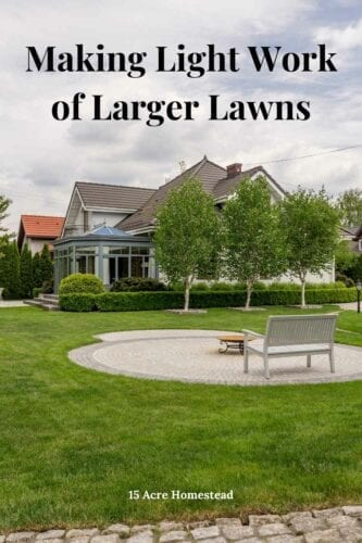 Easy to tips to help maintain larger lawns.