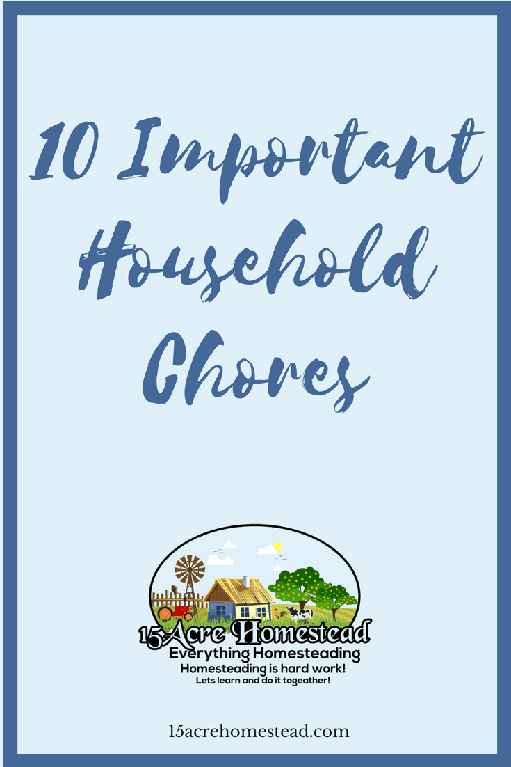 Some household chores are chores that need to be kept up with.