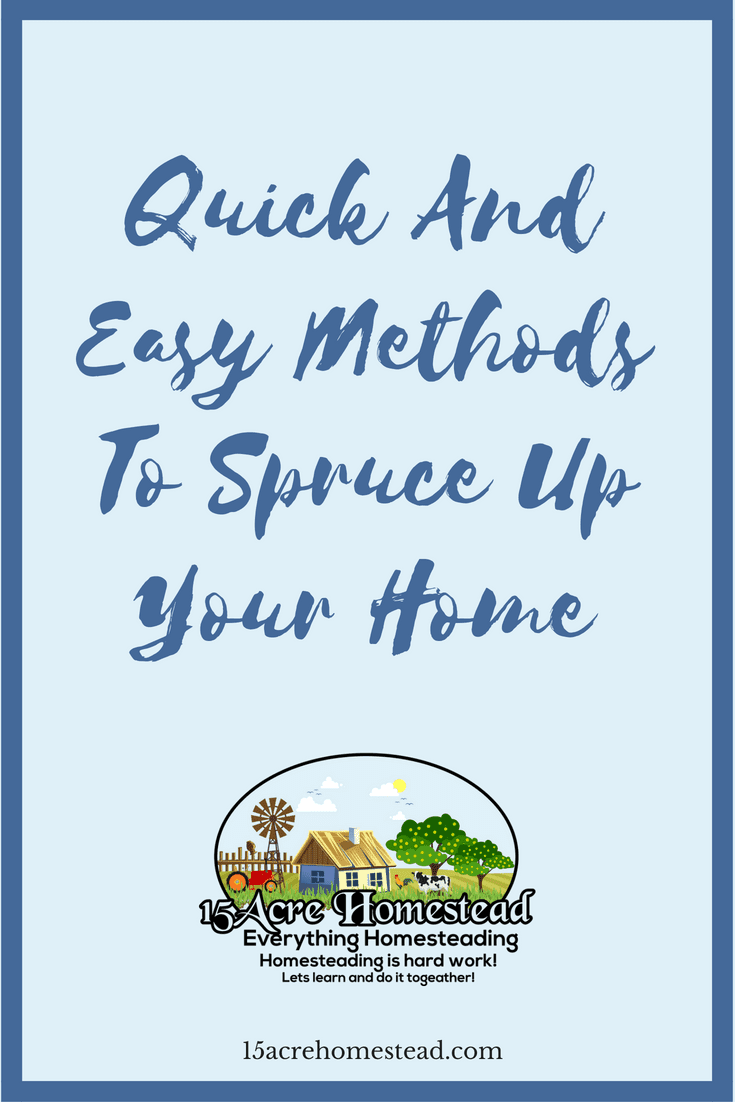 There are many ways to spruce up your home for selling it or just to improve the look and feel.