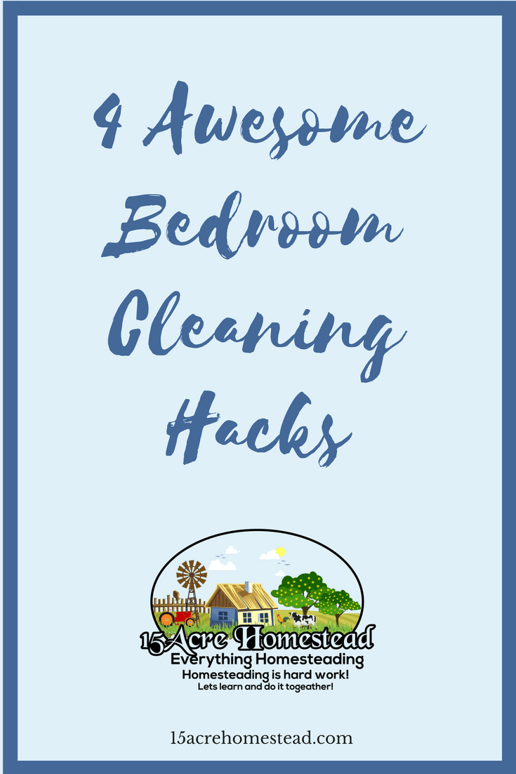 Use these 4 simple bedroom cleaning hacks to make your bedroom a sanctuary you actually enjoy spending time in.