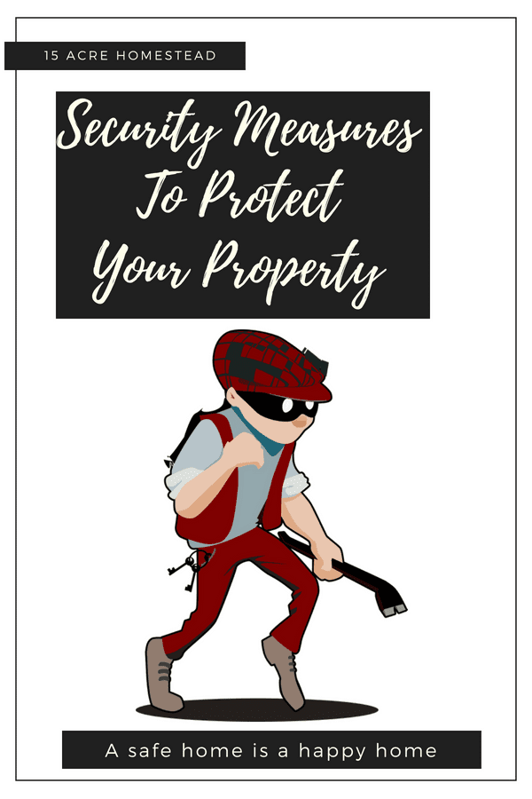 You need to protect your property and introduce preventative security measures that will ensure your homestead remains safe.