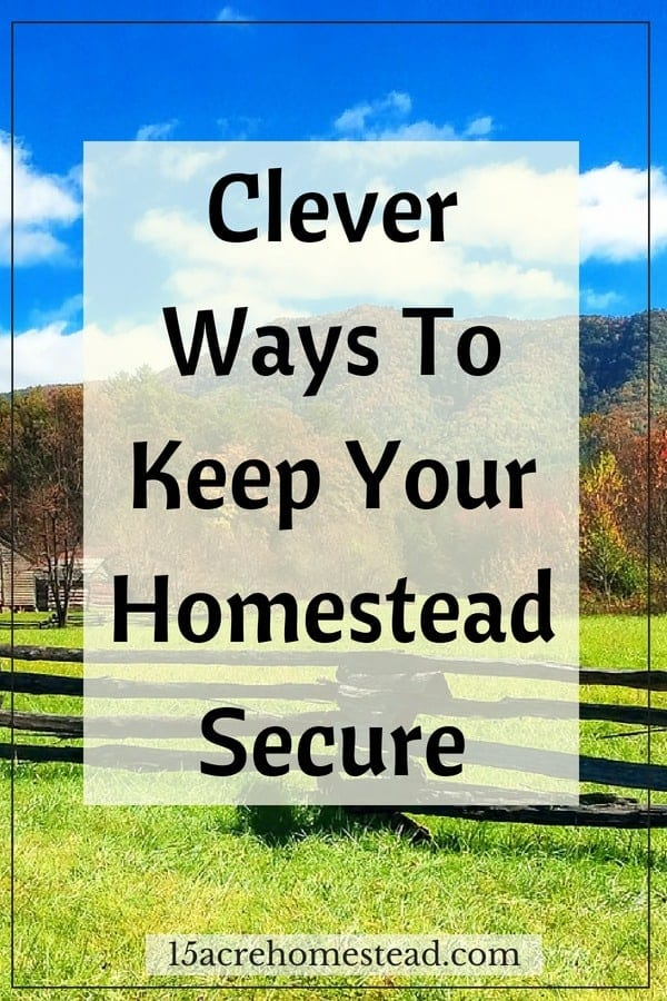 Clever Ways To Keep Your Homestead Secure