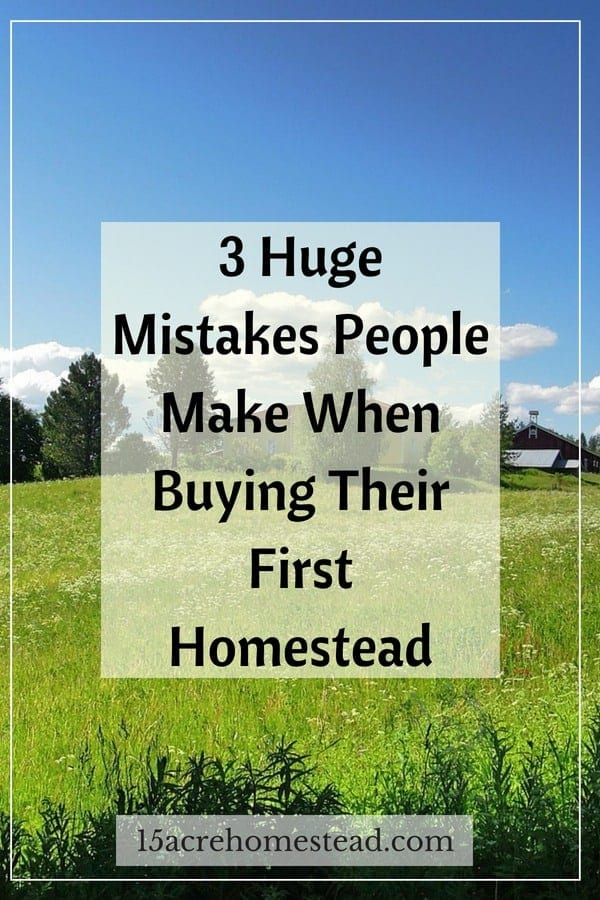 If you're in the market for your own homestead, these are the mistakes that you need to avoid.