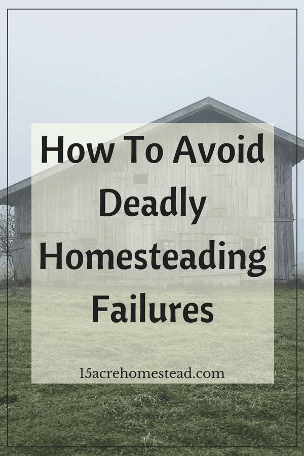 Learn how to avoid the 7 deadliest homesteading failures.
