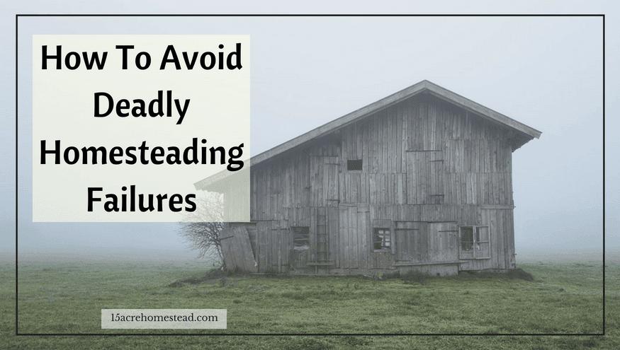 deadly homesteading failures