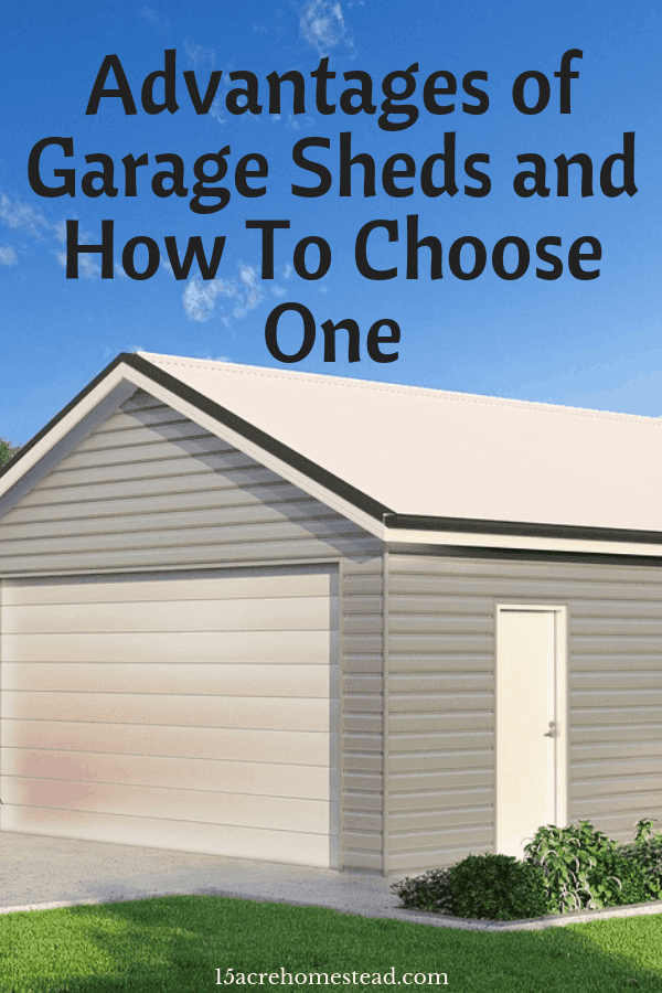 Garage sheds can add extra space for all your storage needs on your property.