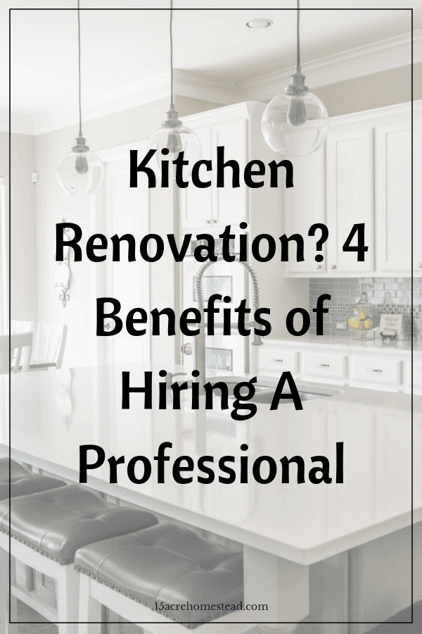 Using a professional when doing a kitchen renovation is a smart move. Check out the 4 top benefits!