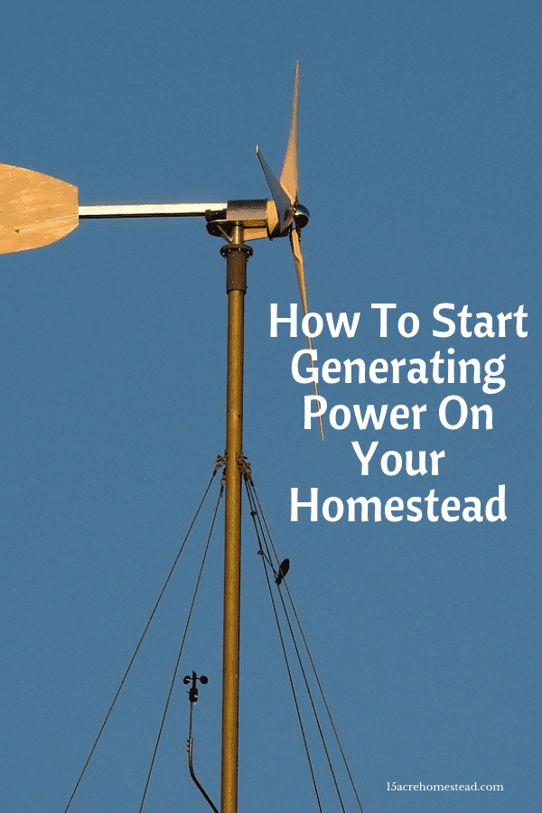Generating power for your homestead is possible. It is another step towrds self-sufficiency and being independent of government.