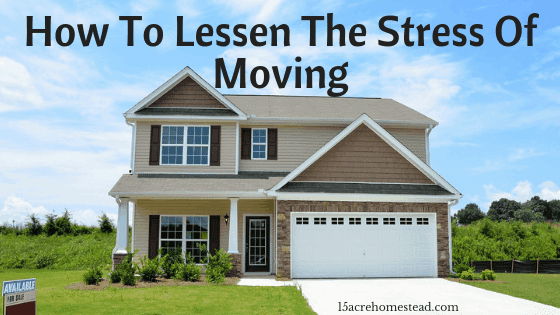 lessen the stresses of moving