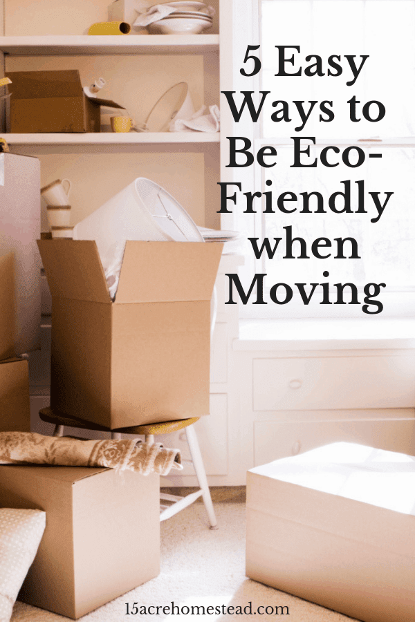 You can be eco-friendly when moving by following these tips.