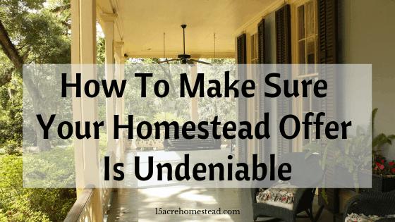homestead offer