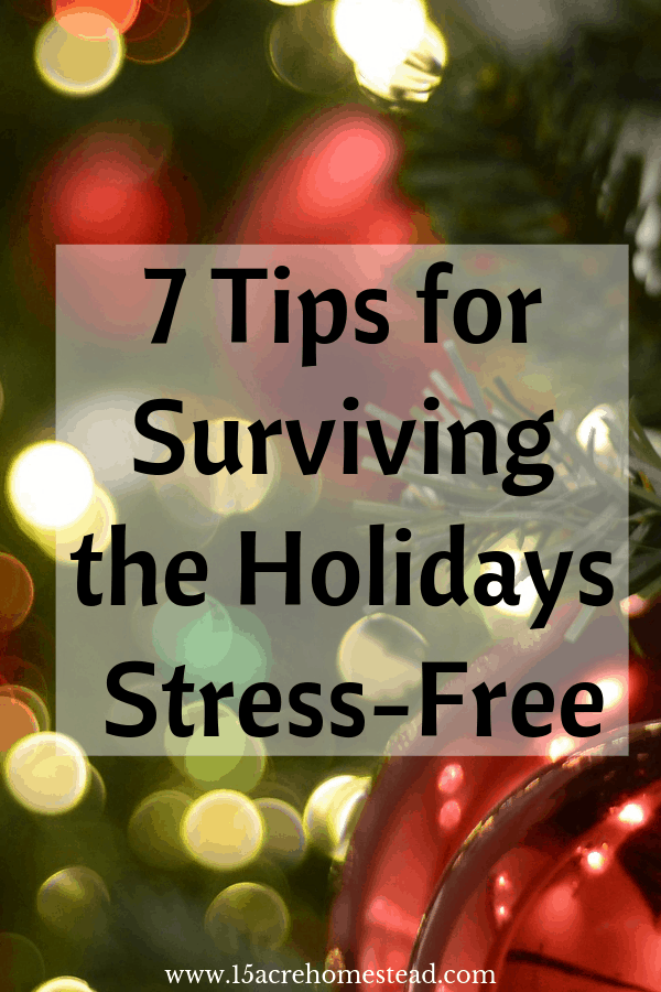 Making it to the New Year without pulling your hair out may seem impossible, it is. Here are 7 tips for surviving the holidays.