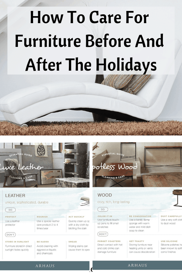 The holidays are approaching. This means your furniture is at risk to the many bumps and bruises that come with decorations and parties.