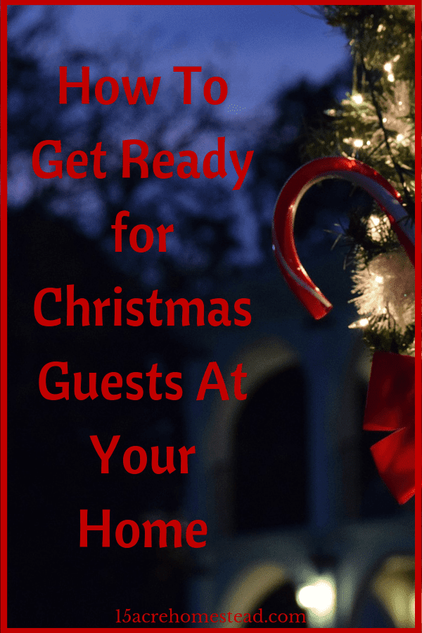 Here are a few tips that should help you get your home ready for Christmas guests.