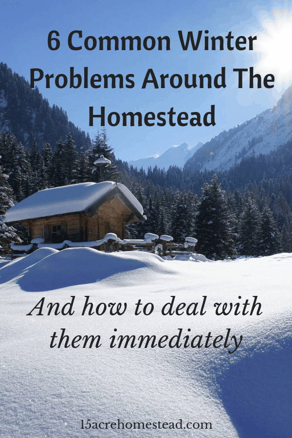 Here are six winter problems you may face and how to prevent them.