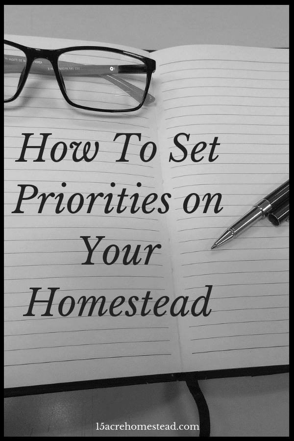 Many homesteaders could avoid being overwhelmed and stressed by learning how to set priorities before they start homesteading.