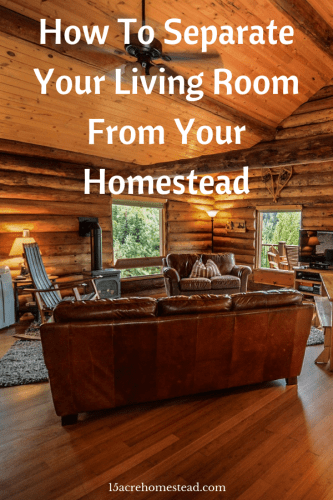 When you're living off the land it can be difficult to draw clear boundaries. You must separate your living room from your homestead.