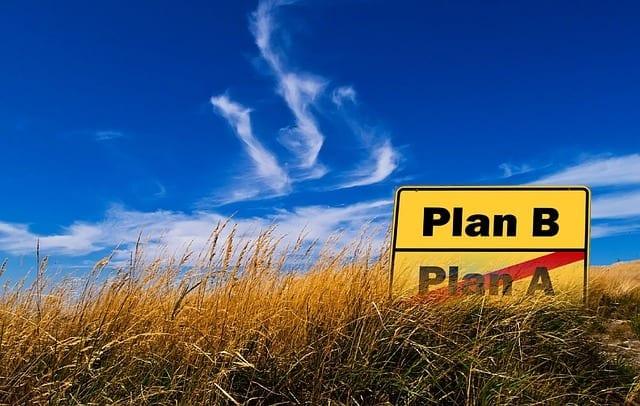 Plan B sign