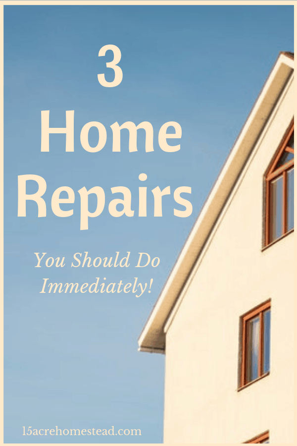 Owning a home can be stressfull. Home repairs can be stressful and costly. Here are the top 3 home repairs you should take care of immediately.