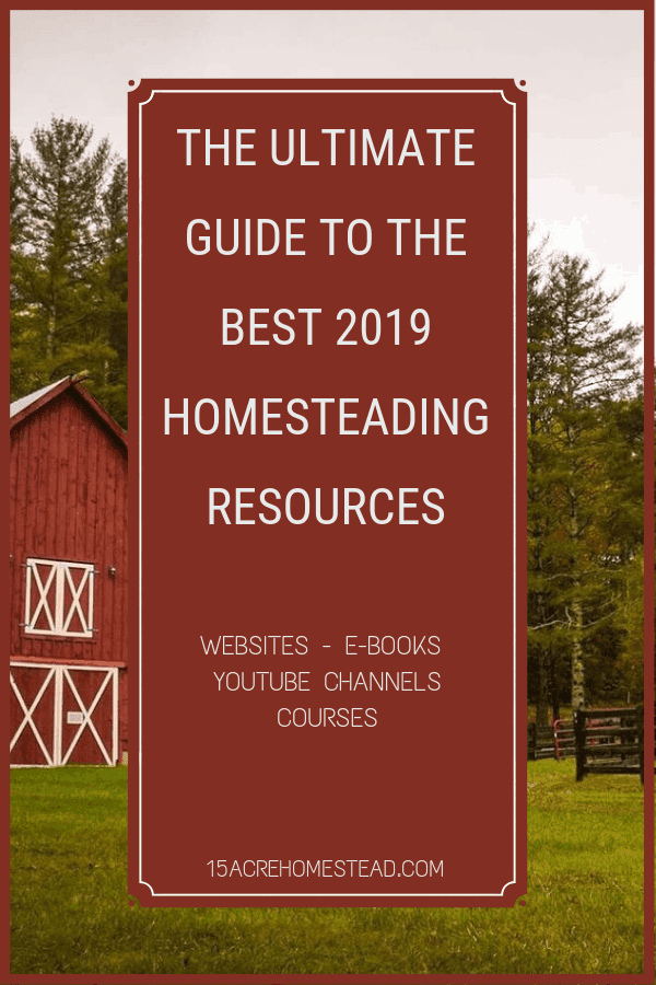 In this Ultimate Guide to the Best 2019 Homesteading Resources, I have compiled the best of the best. There are websites, youtube channels, books, courses, ebooks and more. Sit back grab a drink and immerse yourself in this long list of resources.
