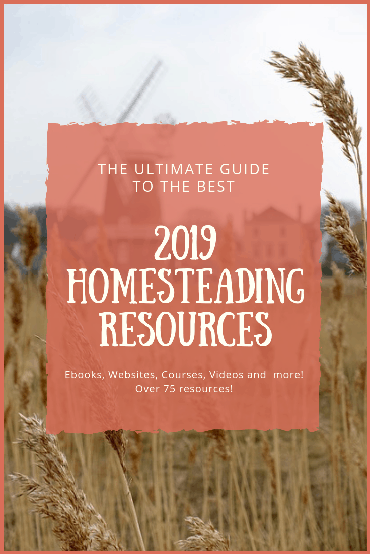 In this Ultimate Guide to the Best 2019 Homesteading Resources, I have compiled the best of the best. There are websites, youtube channels, books, courses, ebooks and more.Sit back grab a drink and immerse yourself in this long list of resources.