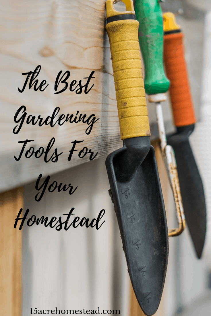 This is an extensive list of the best gardening tools and supplies every homesteader should have on the homestead and where to find them.