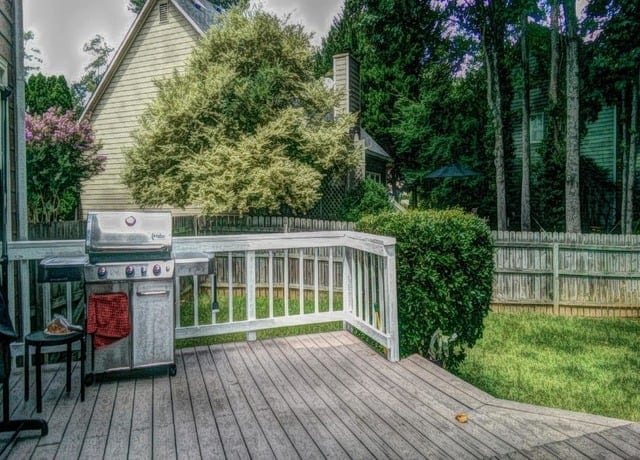 Spring garden deck