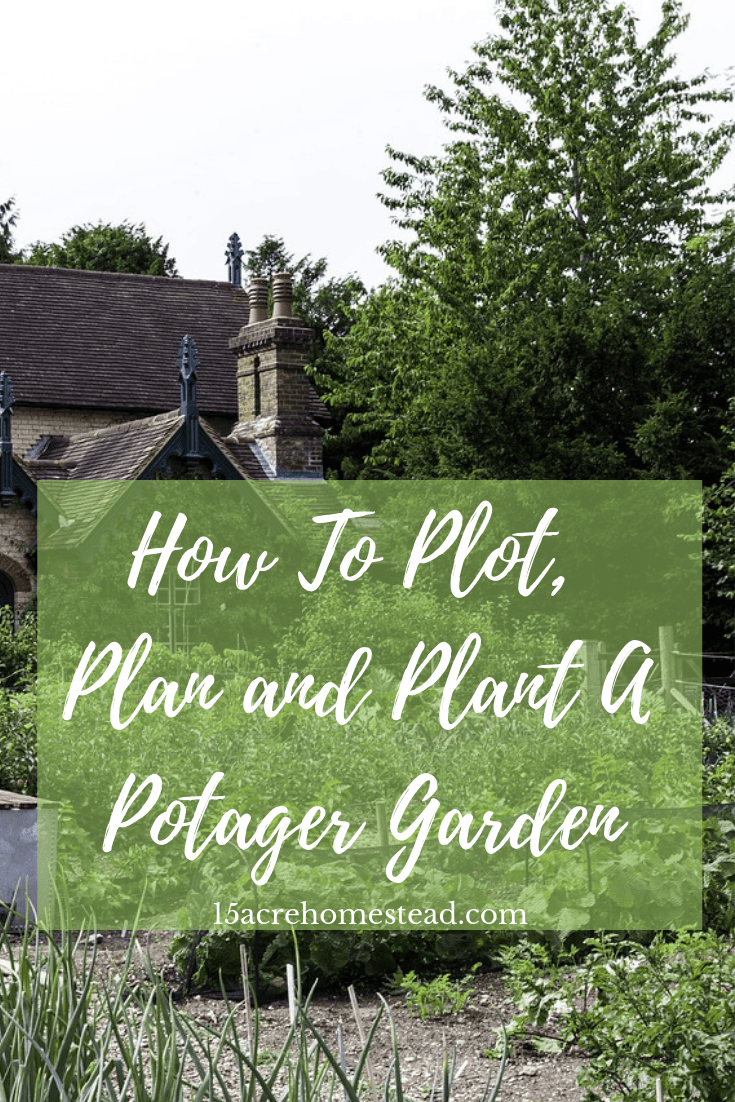 A potager garden is a great way to combine those veggies and herbs and flowers for a complete garden experience.