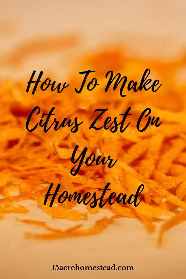 Making citrus zest is a great way of preserving those citrus peels for throughout the year. You can make zest from any type of citrus and you don't have to have a dehydrator to do so either!