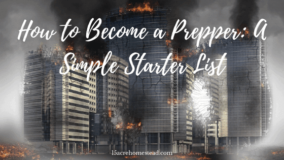 How to become a prepper