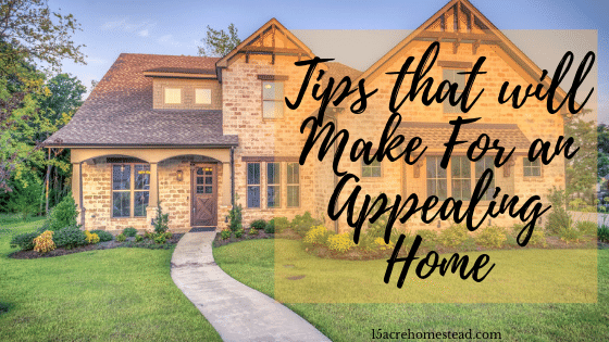 Tips that will Make For an Appealing Home
