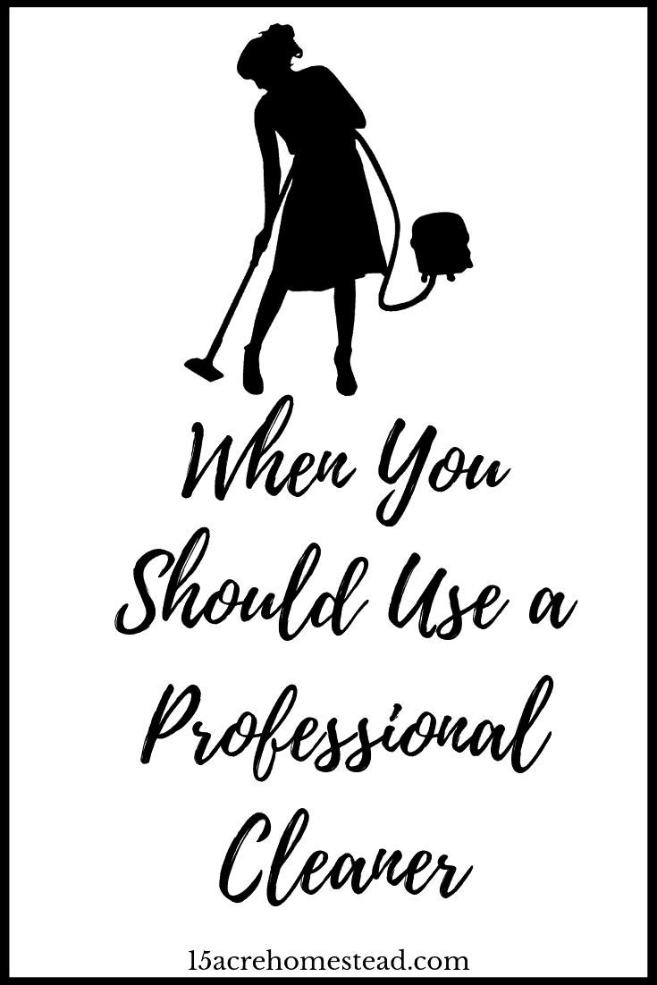 Even if you can do a cleaning job yourself, you don't have to do it if it's inconvenient. A professional cleaner can take care of any jobs that you can't or don't want to do yourself so that you can get on with doing other things.