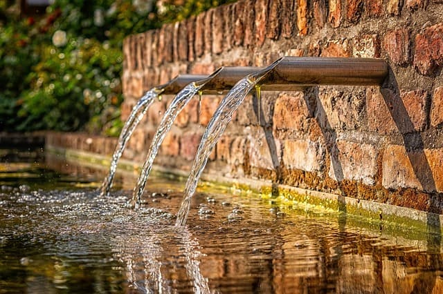 3 spout water feature