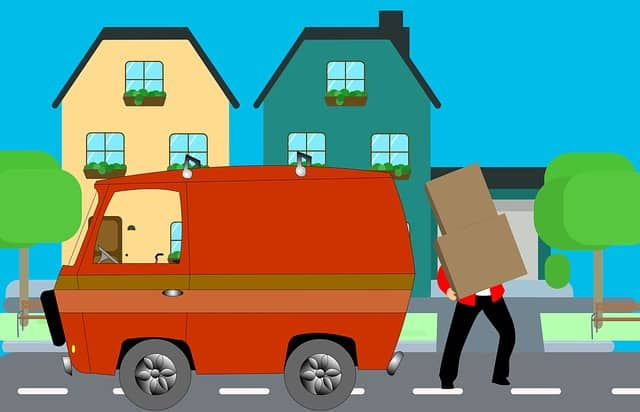 cartoon depicting moving day