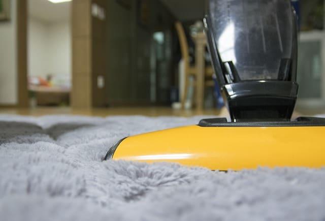 vacuum cleaner on a carpet