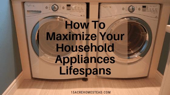 Maximize your appliances lifespans