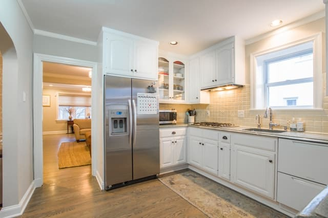 modern stainless steel refrigerator