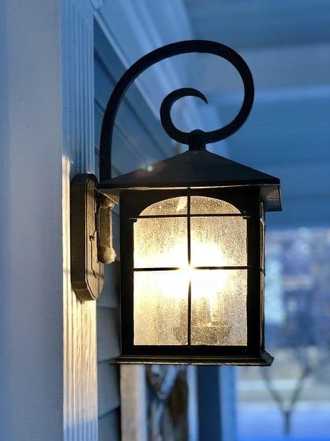 porch light closeup