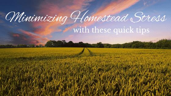 minimizing homestead stress