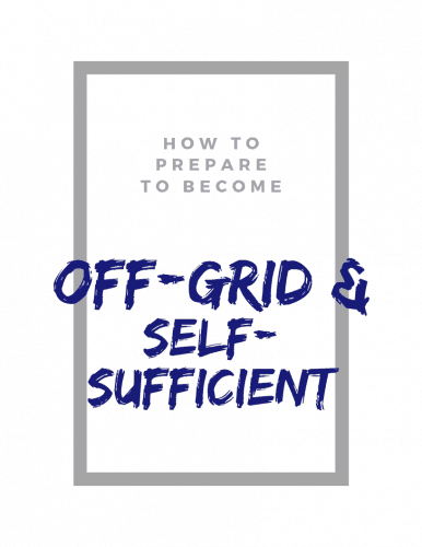 Off-grid and self-sufficient optin