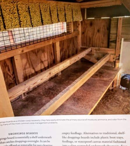 Kathy's interior of her chicken coop