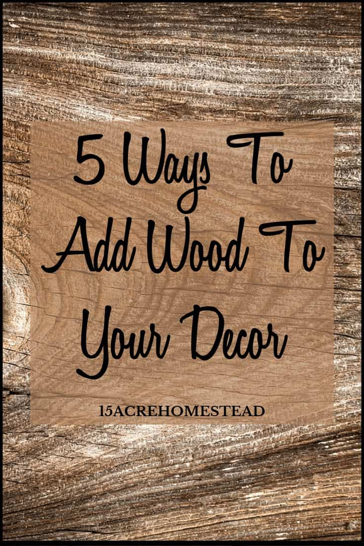 Using wooden accents in your home decor is easily done when you follow these tips and tricks!